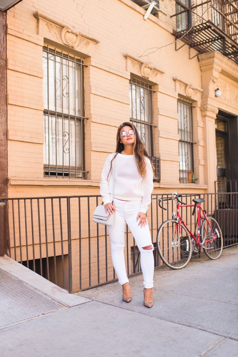 Lisa Wang white outfit full length