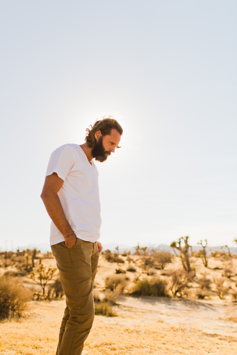 Portrait of Montana Dennis, photographer, in Joshua Tree National Park