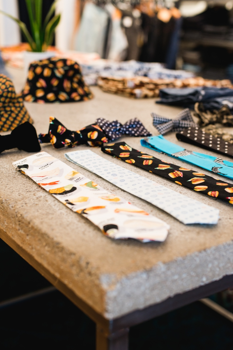An assortment of printed ties from Yoshi Clothing's spring/summer 2016 line