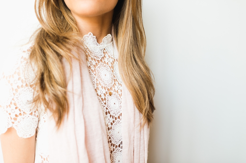 Regan Anderson of Always a Clothes Call details her lace shirt