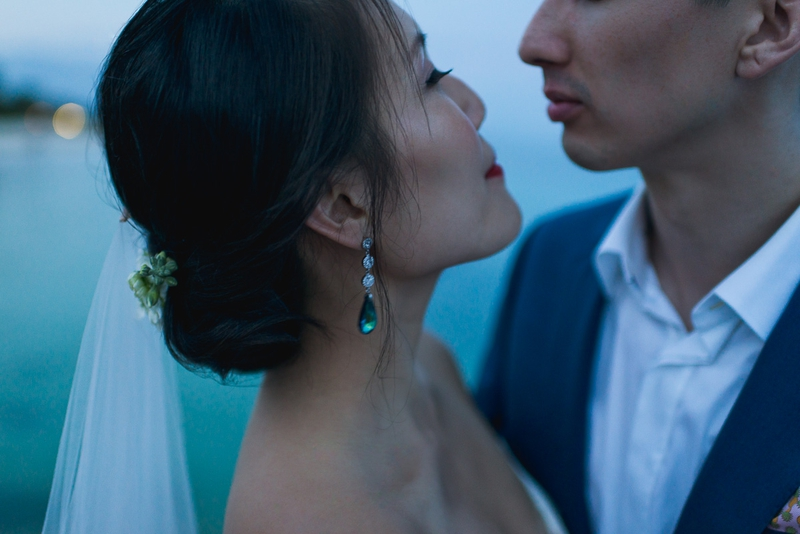 A portrait from Tao and Scott's destination wedding in Mexico